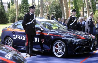 Italian police get their hands on Alfa Romeo's Giulia Quadrifoglio