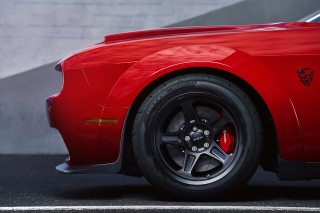 Dodge forbids you to drive the Demon when it's colder than 15 degrees…using stock tires