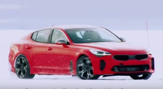 Watch the 2018 Kia Stinger hit the snow