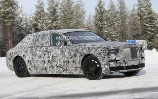 2018 Rolls-Royce Phantom test mule spy shots - Image via S. Baldauf/SB-Medien
