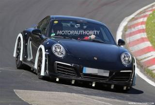 2019 Porsche 911 test mule spy shots - Image via S. Baldauf/SB-Medien
