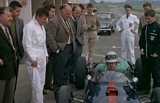 A scene from the 1962 documentary Audition for Racing Drivers