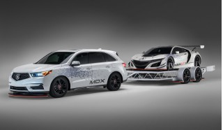 Tricked-out Acura MDX towing an NSX GT3 to star in SEMA