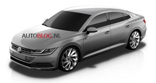 Alleged image of the 2018 Volkswagen CC - Image via Autoblog.nl