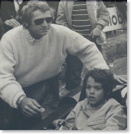 Chad McQueen with father Steve McQueen in 1970