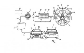 Daimler files patent for system that sprays water on tires