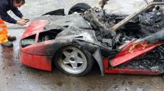 Freshly restored Ferrari F40 burnt to a crisp