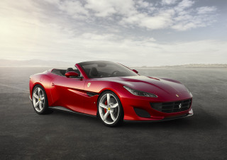 Ferrari Portofino arrives as the California T rides off into the sunset