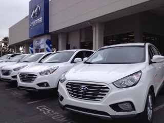 First 2015 Hyundai Tucson Fuel Cell delivered to lessee at Tustin Hyundai, June 2014