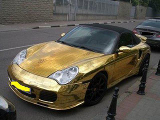 Gold-plated Porsche 996 Turbo Cabriolet