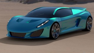 Keating unveils Berus supercar with V-8, electric options