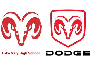 Lake Mary High School logo vs. Dodge Ram logo