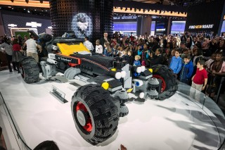 Chevy unveils life-size Lego Batmobile