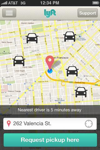 Lyft ride-sharing app