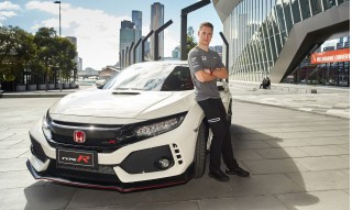 McLaren F1 driver Stoffel Vandoorne samples the 2017 Honda Civic Type R