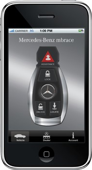 Mercedes-Benz's Mbrace for the iPhone