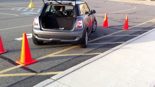 Taking a Driving Test in a 2009 MIni E