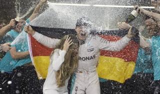 Nico Rosberg after winning the 2016 Formula One World Championship