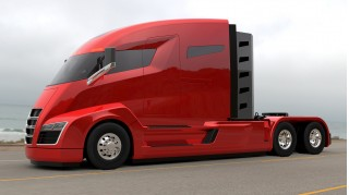 Nikola One natural gas-electric semi truck