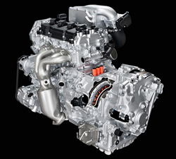 Nissan front-wheel drive hybrid-electric drive system
