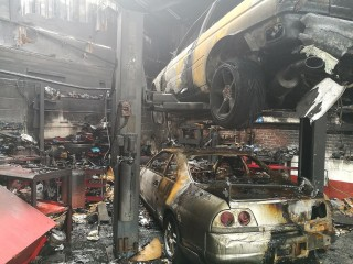 Nissan GT-R horde destroyed in specialty shop fire