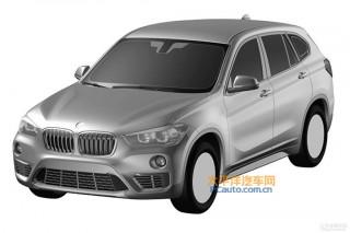 Patent drawing for BMW X1 long-wheelbase model - Image via PC Auto