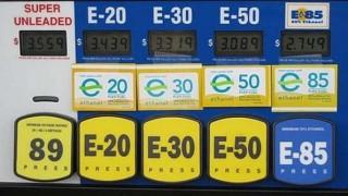 Pump with multiple ethanol/gasoline blends.
