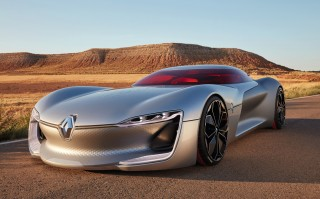 Renault Trezor concept in Paris; electric drive, new design language