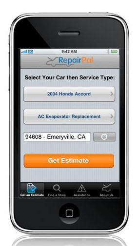 RepairPal iPhone app