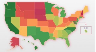 Seatbelt usage by state