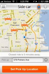 SideCar ride-sharing app