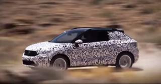 Teaser for 2019 Volkswagen T-Roc debuting at 2017 Frankfurt auto show