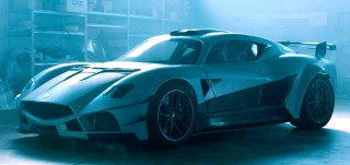 Teaser for Mazzanti Evantra Millecavalli debuting at 2016 Turin Auto Show