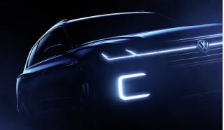Teaser for Volkswagen SUV concept debuting at 2016 Beijing Auto Show