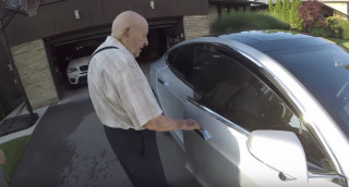 97-year-old rides in Tesla Model S