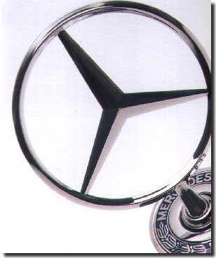 The Mercedes-Benz logo.