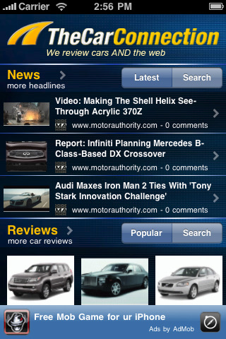 TheCarConnection iPhone App version 1.2