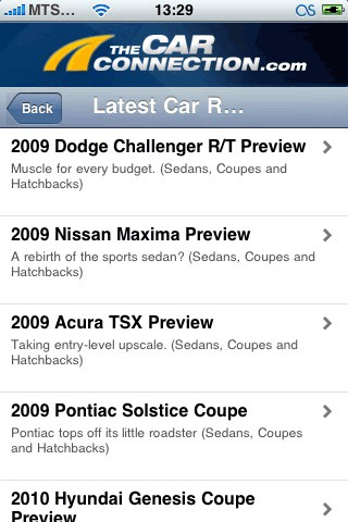 TheCarConnection iPhone
