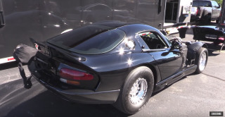This twin-turbocharged Dodge Viper is the fastest rear-wheel-drive car in the half mile