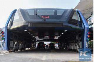Transit Elevated Bus (TEB) - Image via China Xinhua News