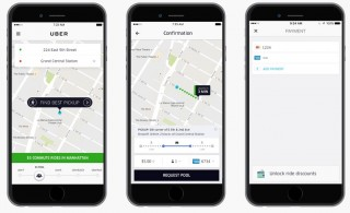 uberPOOL using commuter tax benefits