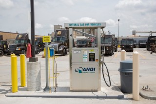 UPS natural gas fueling station