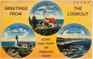 Vintage postcard from Oregon