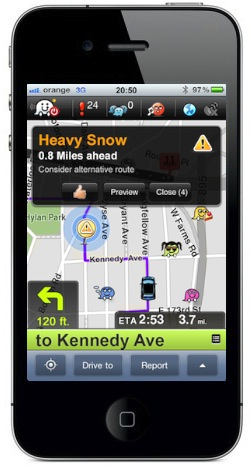 Waze updated to include road hazard voice alerts