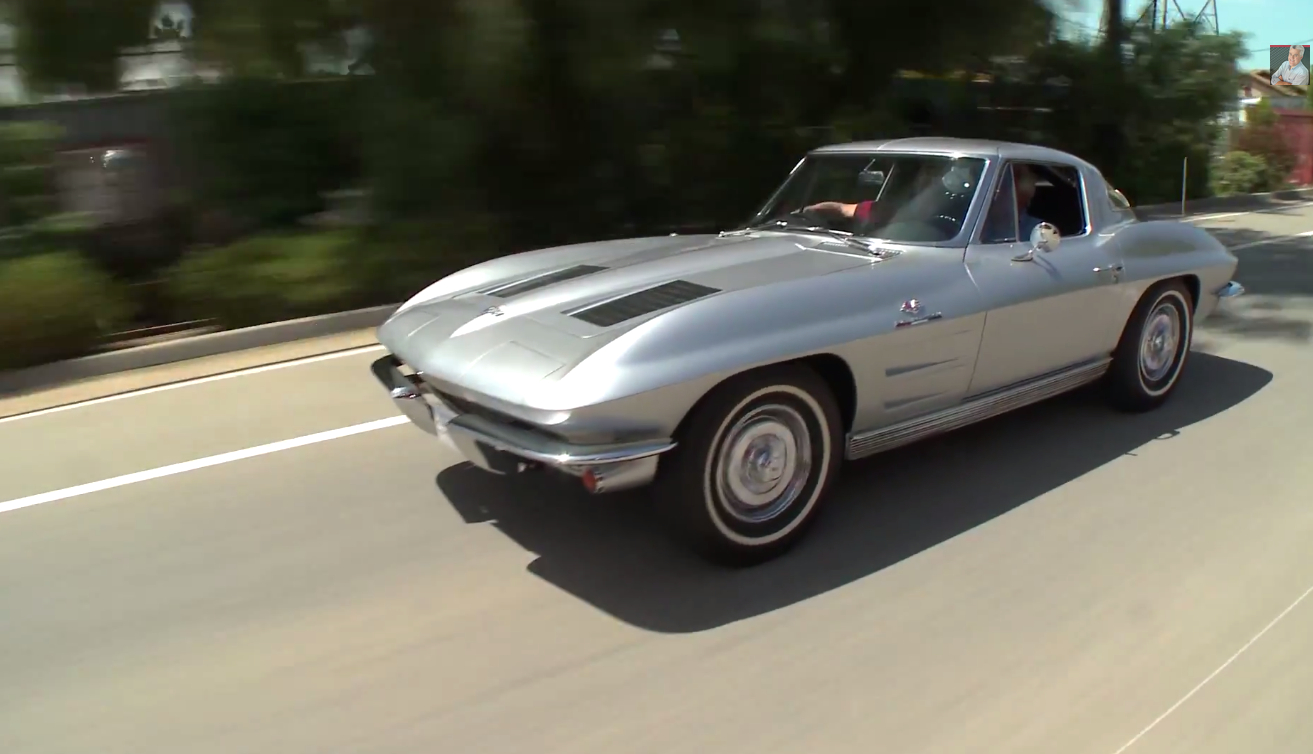Jay Leno Makes Noise In A 1963 Corvette Stingray: Video