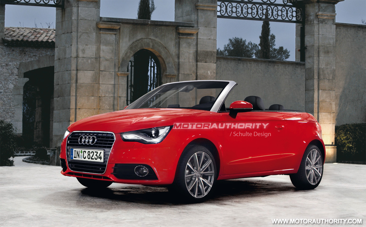 2011 audi a1 cabrio rendered. Black Bedroom Furniture Sets. Home Design Ideas