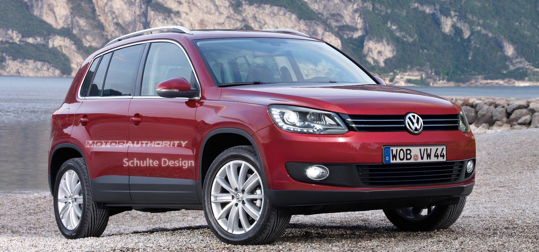 rendered  volkswagen tiguan facelift