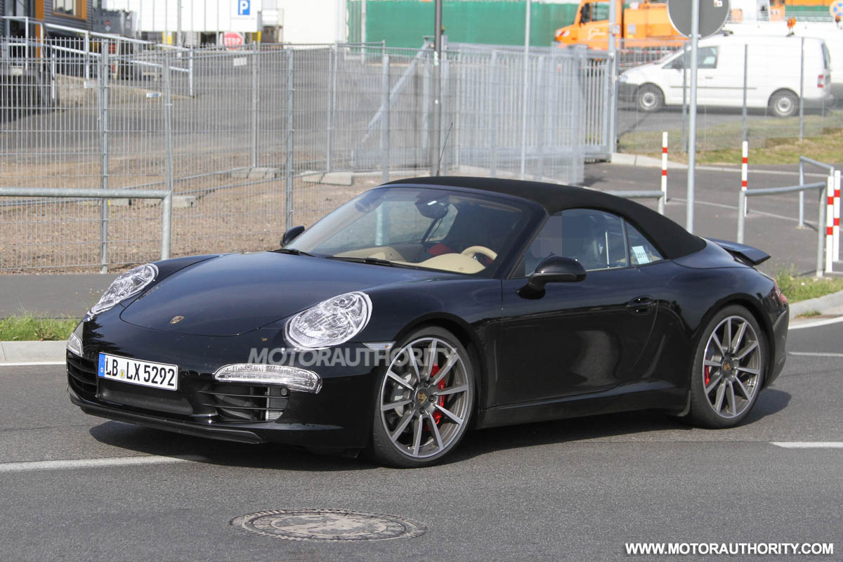 2012 porsche 911 cabriolet spy shots. Black Bedroom Furniture Sets. Home Design Ideas