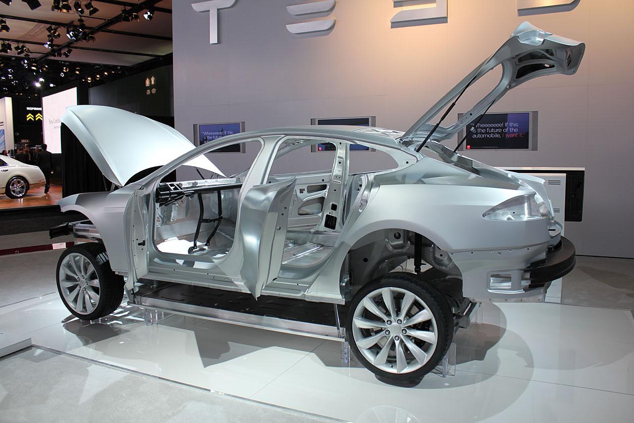 2011 Detroit Auto Show 2013 Tesla Model S Body In White
