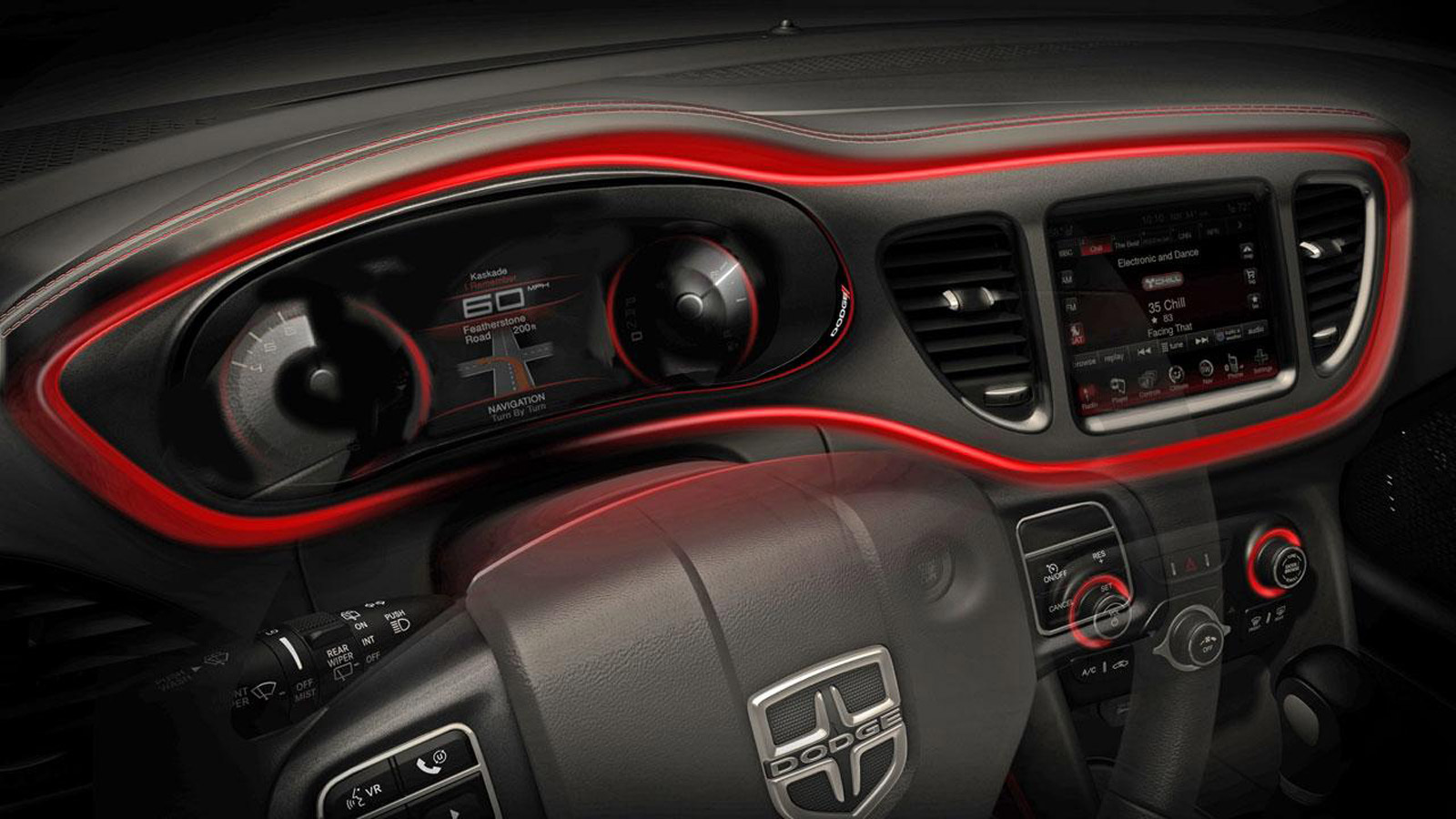 2013 Dodge Dart More Teaser Photos Now The Instrument Panel